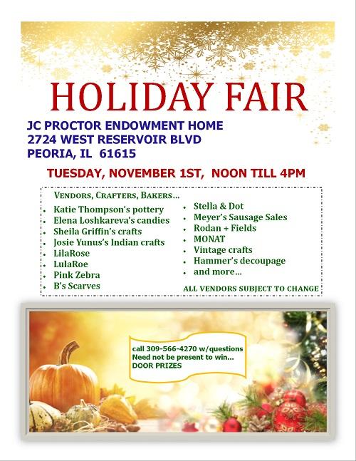 Holiday Vendor Fair Proctor Place