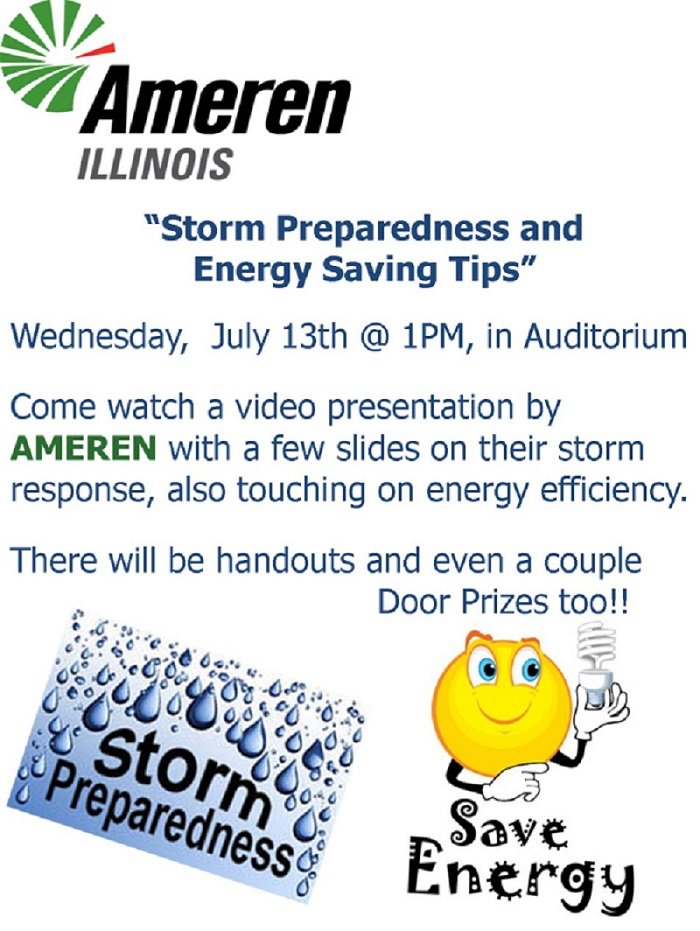 Ameren Illinois Presentation - Storm Preparedness and Energy Saving Tips
