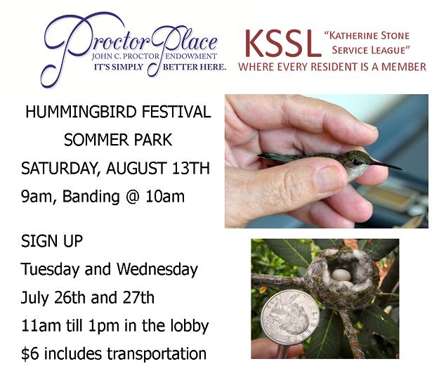 KSSL Outing:  Hummingbird Festival